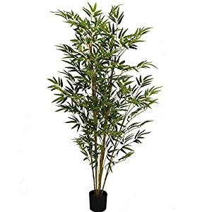 UNIQUE FOREST ARTS Bamboo Silk Tree, Fake Bamboo Tree,Artificial Bamboo Tree,6-Feet, Green