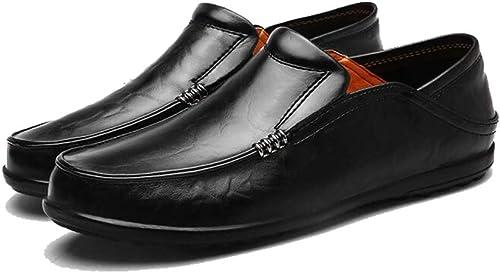 Hy Herrenschuhe, Feder- Herbst-Comfortfahrschuhe, Formal Business schuhe, Loafers & Slip-Ons Lazy Schuhe Radschuhe,schwarz,41