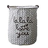 Kanggest Cubo Plegable de Lino y algodón Cesta para la Ropa Sucia,...