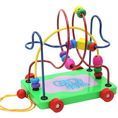 Kralen en kralen Early Education Speelgoed van de Baby 6-12 Maanden Oude Baby Ontwikkeling Beneficial Intelligence Toys,Green