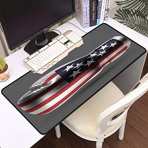 Gaming Mousepad Groß Mauspad,Boxhandschuhe USA amerikanische Flagge,Komfort Mousepad - verbessert Präzision und Geschwindigkeit