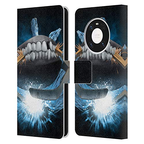 Head Case Designs Offiziell Zugelassen Tom Wood Hockey Monster Leder Brieftaschen Handyhülle Hülle Huelle kompatibel mit Huawei Mate 40 Pro 5G