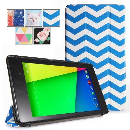 Google Nexus 7 2013 Case - Poetic Google Nexus 7 2013 Case [Slimline Series] - [Lightweight] [Ultra-slim] PU Leather Slim-Fit Trifold Cover Stand Folio Case for Google Nexus 7 2nd Gen 2013 Black (3 Year Manufacturer Warranty From Poetic)