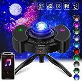 LED Sternenlicht Projektor, PAIPU Rotierende Wasserwellen Projektionslampe,360°Drehen Farbwechsel Musikspieler mit Bluetooth & Timer für Kinder Erwachsene Zimmer Dekoration