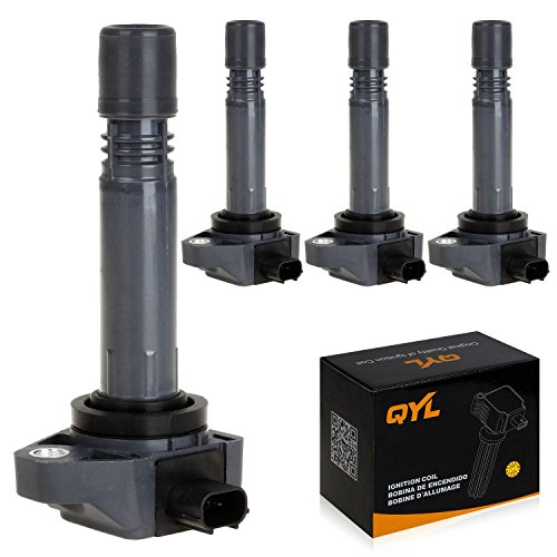 QYL Pack of 4Pcs Ignition Coils Replacement for Honda Civic L4 1.8L Only 2006 2007 2008 2009 2010 2011#UF582 C1580 1788393 RNAA01 IC662