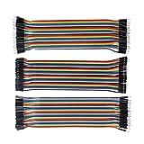 SUNFOUNDER 120 Piezas Cable Dupont para Arduino/Raspberry Pi 40 Pines Macho-Hembra, 40 Pines Macho-Macho, 40 Pines Hembra-Hembra Cables de Puente