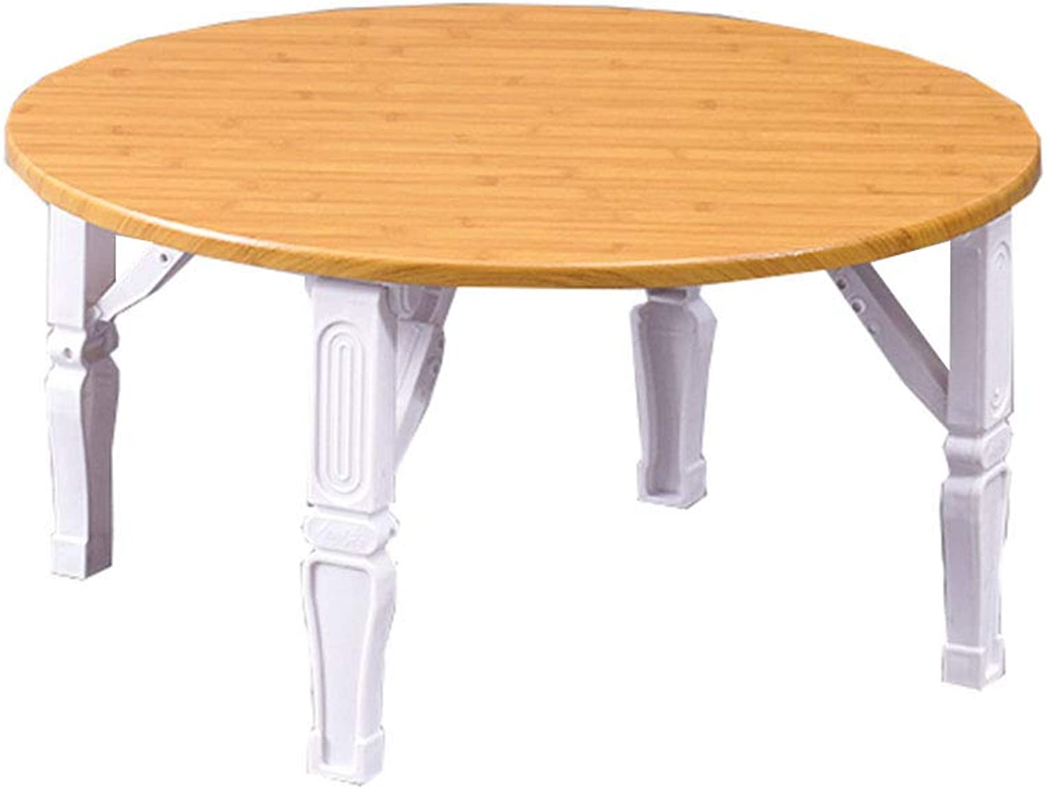 NJLC Folding Snack Table, Household Small Round Table Folding Table Simple Folding Small Table,C,60×60×30cm