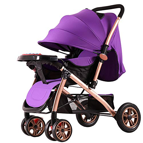 Best Price MARXIAO Portable High Landscape Stroller, Can Sit Reclining Folding Shock Absorber Light ...