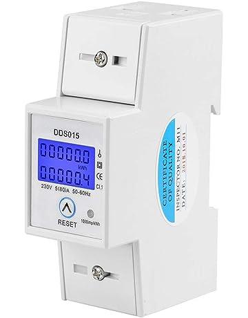 Nrpfell Misuratore di Energia su Guida DIN 5-80A DDM15SD LCD Display Digitale con Display Digitale Monofase KWh