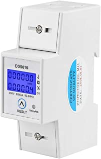 Medidor de energía monofásico LCD 5-80A 230V 50Hz Medidor de energía de doble riel DDS015
