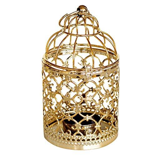 LASISZMetal Holle Marokkaanse Lantaarn Kaars Houder Thee Licht Thuis Kamer Decor Houder Hangende Lantaarn Vintage Kandelaars