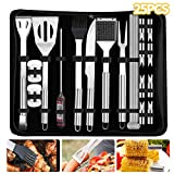 BBQ Grill Barbecue Tool Sets Stainless Steel Grill Tools 25 Pieces BBQ Accessories