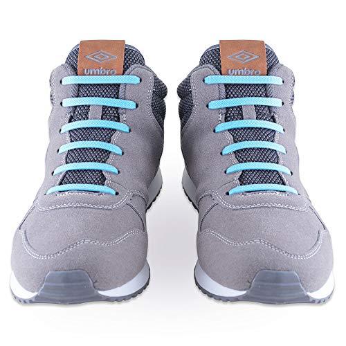 SULPO Elastische Silikon Schnürsenkel – Ohne Binden – Silikonschnürsenkel – Schnürsenkelersatz, Schleifenlose Schuhbänder – Gummischnürsenkel für alle Schuhe – Kinder & Erwachsene (Blau)