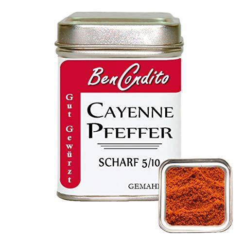 BenCondito - Cayennepfeffer - gemahlenes scharfes rotes Chilipulver 80 gr. Dose