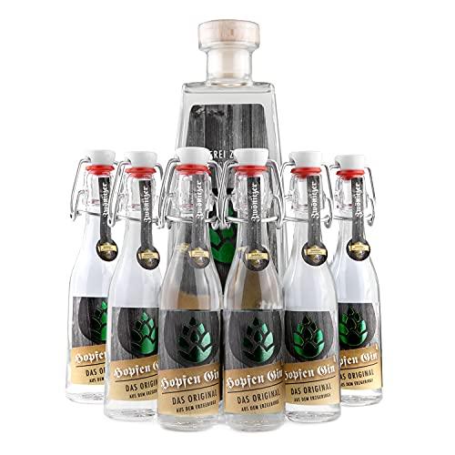 Brauerei Zwönitz Erzgebirgischer HopfenGin/ausgefallener Gin aus Zwönitzer Indian Pale Ale Craft Beer/Gin Geschenk Idee aus Sachsen/Gin Geschenkset mit Hopfen Aroma / 0,5 l Gin Glasflasche