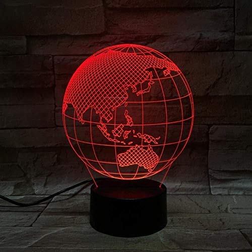 EFGHK 7 Colori 3D lanterna Magica LED luce notturna miglior Regalo di Natale Tocco Regalo di Compleanno Terra calda e Bella