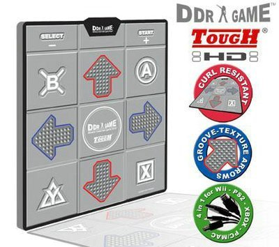 New DDR Tough Curl Resistant Groove Texture HD Deluxe Dance Platform For PS/PS2 Wii Xbox & PC Red