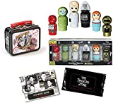 Sci-Fi Twilight Zone Mystic Mini Wooden Figures Seer Devil, Gremlin, Martian Kanamit, Talky Tina + Tiny Tin Ugliness is The Norm + Black & White Trading Cards Pack 3 Items