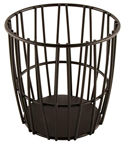 G.E.T. Enterprises Black Round Metal Wire Breadstick Holder Iron Powder Coated Specialty Servingware Collection 4-32038 (Pack of 1)