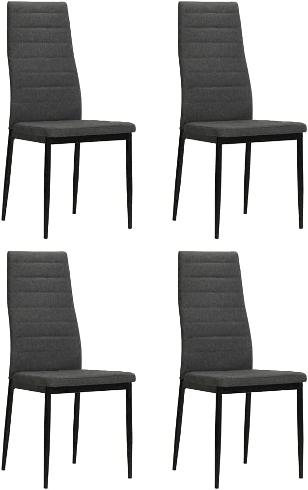NusGear Dining Chairs Challenge the lowest price 4 High material pcs -102 Gray Fabric Dark