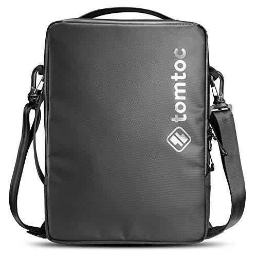 tomtoc 13.5 Inch Laptop Shoulder Bag for 13-inch MacBook Air M1, MacBook Pro M1, 12.9 iPad Pro, 12.3 Surface Pro, 13.5 Surface Book/Laptop, Cordura Ballistic Fabric Waterproof Case, Premium Edition