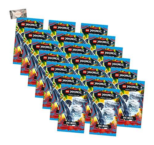 Lego Ninjago Karten Trading Cards Serie 6 - Die Insel (2021) - 20 Booster + stickermarkt24de Gum