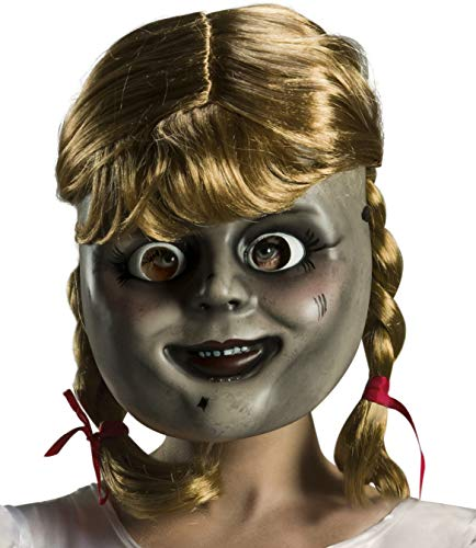 Rubie's Annabelle Comes Home Adult Mask with Wig, As Shown, One Size