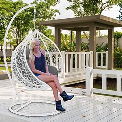 Divine Style Garden Rattan Swing Basket Chair