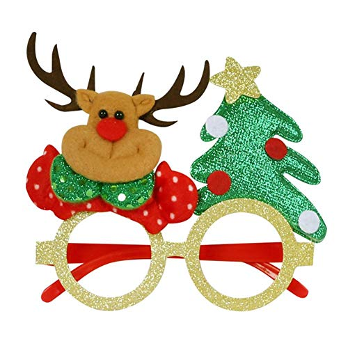 Longlasting Christmas Party Glasses Innovative Eyeglasses Costume Eyeglasses Party Glasses Frame Decoration Prop for Christmas Party Holiday Favors