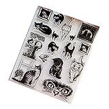 Fafalloagrron Transparente Stempel-Silikonversiegelung für DIY Scrapbook Tagebuch Album Foto Dekor T1039 Katze