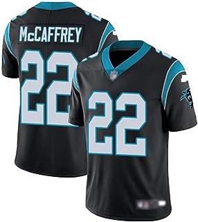 YDYL-LI American Football Carolina Panthers # 22 Christian Mccaffrey Training Spiel Trikot Atmungsaktiv - Entspannt Und Komfortabel T-Shirt - Sweatshirt, Schwarz - Spleißen,M
