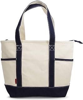 (Marib select) 16oz厚手 トートバッグ キャンバス 帆布 トート ファスナー A4 大容量 ちょうどいいサイズ メンズ レディーズ #c383