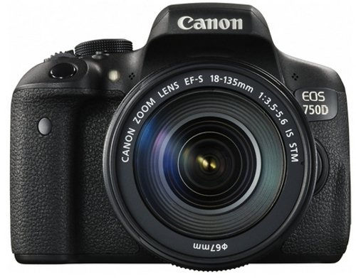 Canon EOS 750D - Cámara digital (24.2 MP, 19 puntos AF, CMOS, 5 fps), color negro