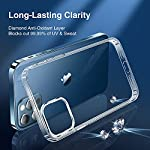 Elando Crystal Clear Case Compatible with iPhone 12 Pro Max, Non-Yellowing Shockproof Protective Phone Case Slim Thin, 6.7 inch