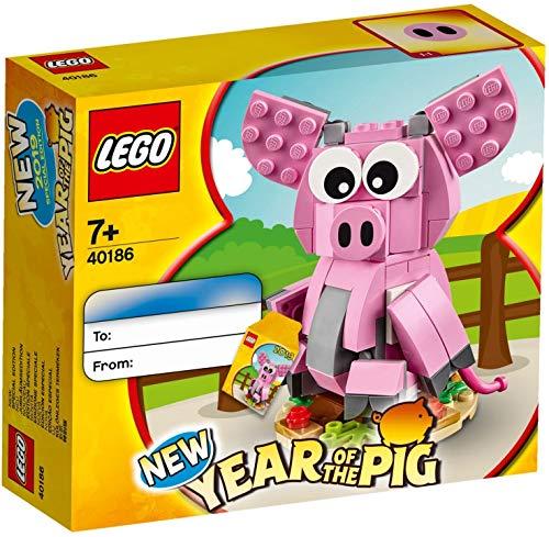 LEGO® – Das Jahr des Schweinchens Iconic Bauspiele 40186, Mehrfarbig