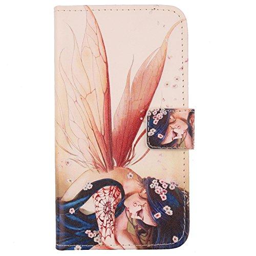 Lankashi PU Flip Leder Tasche Hülle Hülle Cover Schutz Handy Etui Skin Für Huawei Honor 5C Honor 7 Lite Wing Girl Design