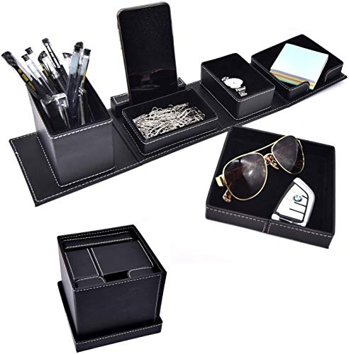 Leather Office Supplies Desk Organizers and...