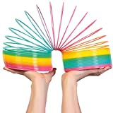 Liberty Imports Jumbo Rainbow Coil Spring - Ginormous Classic Novelty Toy - Great Gift for Boys, Girls, Birthday - 6-inches