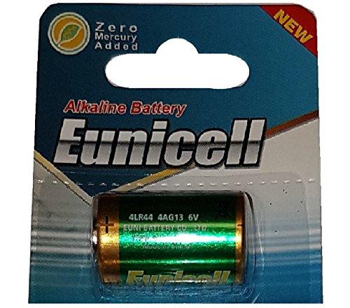 1 x 4LR44 6V (1 Blister a 1 Batterie) Quecksilberfreie Alkaline Batterien PX28, 4G13, 476A, L1325 EINWEG Markenware EUNICELL
