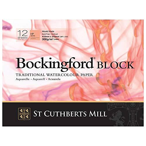 Bockingford : BLOCK 9x12in : 140lb (300gsm) Hot Press : 12s