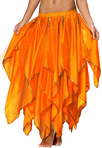 Phoenix Costume for Women Maxi Skirt with Sequin Side Split