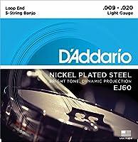 D'Adario ダダリオ バンジョー弦セット EJ60 【J60】 〔np〕【Ebiオリジナルピック付】