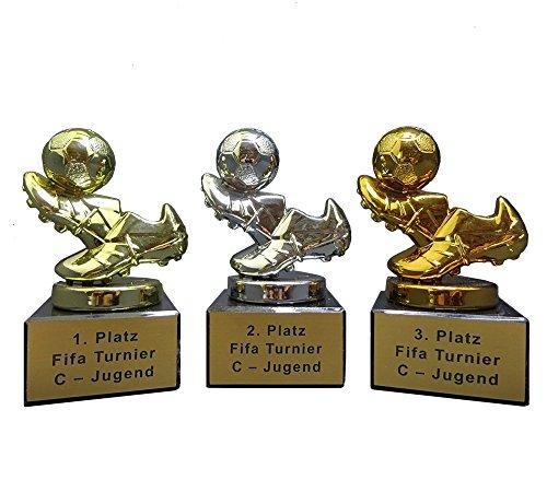 RaRu 3er-Serie Mini-Fussball-Pokale (GSB) mit Ihrer Wunschgravur