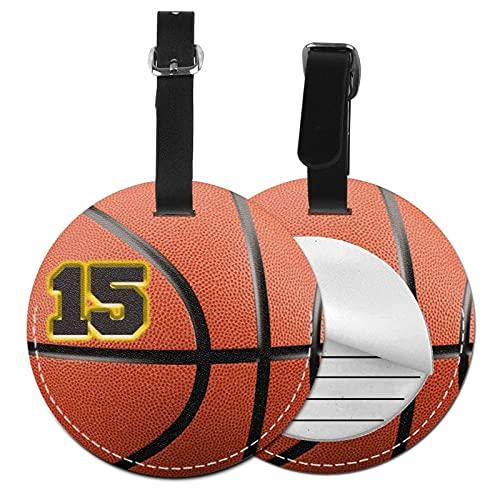 Etiquetas para Equipaje Bolso ID Tag Viaje Bolso De La Maleta Identifier Las Etiquetas Maletas Viaje Luggage ID Tag para Maletas Equipaje Jugador de Baloncesto número 15 Jugador de Baloncesto