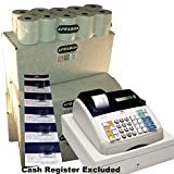 EPOSBITS® Marca 100 rollos + 5 tintas para caja registradora Olivetti ECR7100 ECR 7100