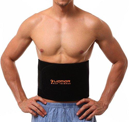 Liomor Waist Trimmer Belt Weight Loss Belt Slimming Belt Tummy AB Belt for Women & Men - One Size, 8' Wide x 41' Long