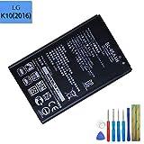 Batería de Repuesto BL-45A1H Compatible con LG K10 F670K K410 K420N M2 Q10 EAC63158301 2300 MAH con Herramientas
