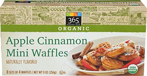 365 Everyday Value, Organic Apple Cinnamon Mini Waffles, 32 ct, (Frozen)