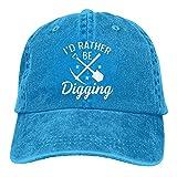 Gymini Cita de pesca de la suciedad para un detectorista sombrero de algodón lavable adulto gorras de béisbol ajustables para hombre mujer azul