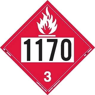 Labelmaster ZEZ21170 UN 1170 Flammable Liquid Hazmat Placard, E-Z Removable Vinyl (Pack of 25)